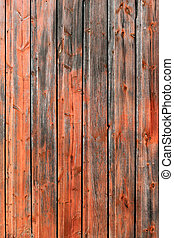 Red Rustic Weathered Barn Wood Board Background - The side...