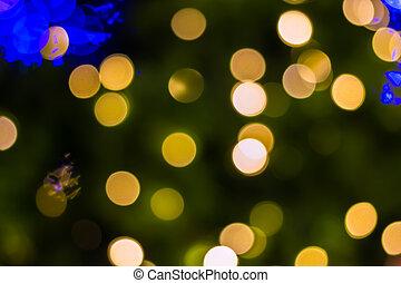 金, 木, 焦点がぼけている, クリスマス,  ligths