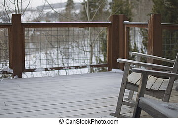 Winter - Wooden Chairs on Deck