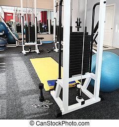 Gym hall - Gym apparatus in gym hall