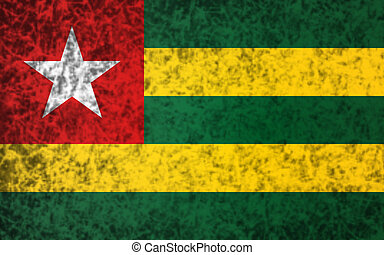 Flag of Togo - Flag of Togo in grunge style