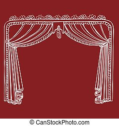 Hand Drawn Theater Stage Curtain