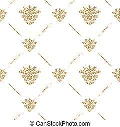 Oriental pattern with arabesque - Oriental vector pattern...