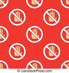 No entry hand stop pattern - No entry hand icon pattern Stop...