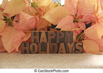poinsettia happy holidays