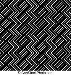 Seamless geometric zigzag pattern. Vector art.