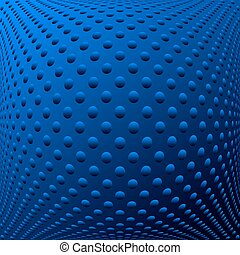 Abstract blue textured convex background. Vector art.