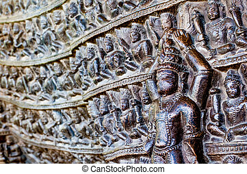 Erotic carvings at Khajurao temples India - Hindu jain...