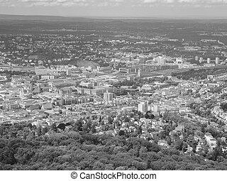 Stuttgart, Germany - View of the city of Stuttgart in...