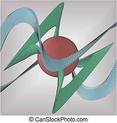 Wire Frame Surface Background... - Wire Frame Surface Vector...