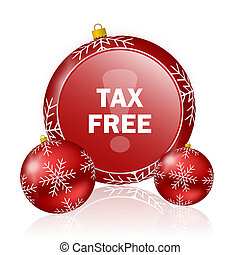 tax free christmas icon