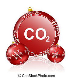carbon dioxide christmas icon