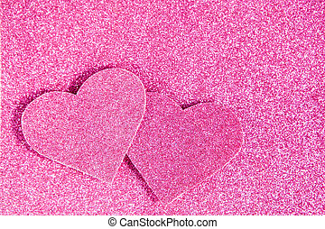 Pink glitter shiny abstract valentine's day background -...