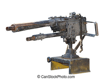 comic model of a light machine gun on a white background