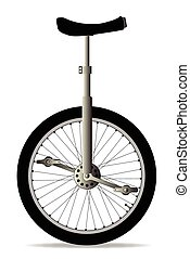Unicycle On White - A unicycle isolated over a white...