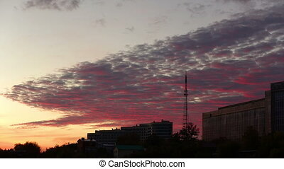 Pink Clouds and the TV Tower - Colorful sunset shot...