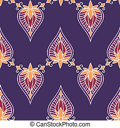Ornament lotus - The pattern of ethnic ornament. Print for...