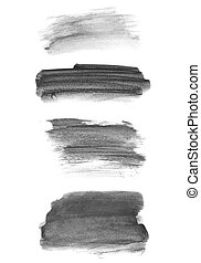 hand paint brush strokes - set photo of watercolor hand...