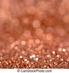 Sparkle orange brown glittering bokeh abstract background