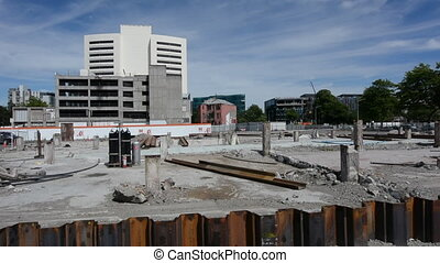 Damaged building Christchurch - Damaged building in...