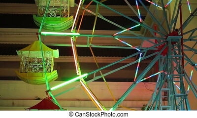 Small old carnival ferris wheel