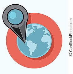 map pointer circle icon with shadow.eps