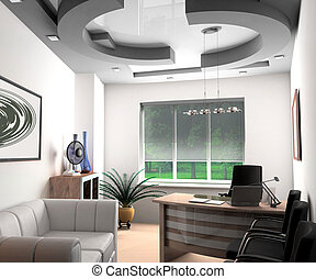 Modern office - Modern interior of office, exclusive design