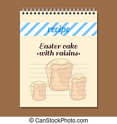 Recipe Book Easter Cake With Raisins - Page for recipe book...
