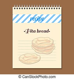 Recipe Book Pita Bread - Page for recipe book with hand...