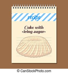 Recipe Book Cake With Icing Sugar - Page for recipe book...