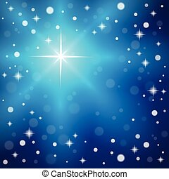 Christmas snowflakes on a blue background.