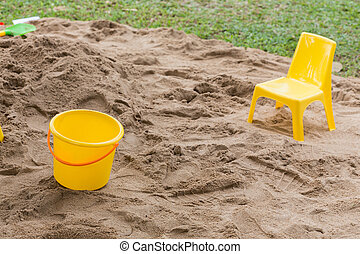 toys of kid for playing sand enjoy in playground
