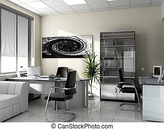 workplace - Modern interior of office, exclusive design