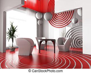 Interior of a modern restaurant - Modern interior with...