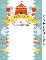 Fun Fair, Carnival, Circus, Frame - Amusement Park, Theme...
