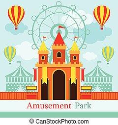 Castle, Amusement Park, Carnival, Fun Fair - Theme Park,...