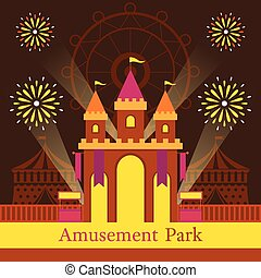 Castle, Amusement Park, Carnival, Fun Fair, - Theme Park,...