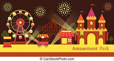 Amusement Park, Carnival, Fun Fair - Theme Park, Circus,...