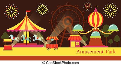 Amusement Park, Carnival, Fun Fair - Theme Park, Circus,...