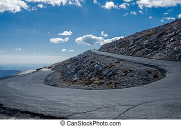 Winding Road to Mount Evans - The steep and winding road to...