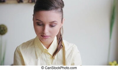 Beautiful girl in business style