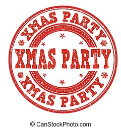 Xmas party stamp