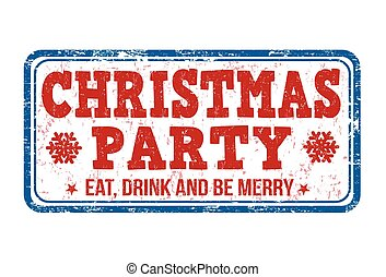 Christmas party stamp