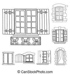 Vintage windows set