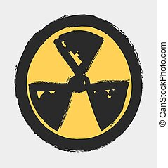 grunge radiation icon symbol - grunge radiation icon,...