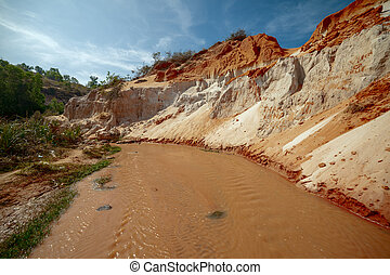 Fairy Stream Canyon, Vietnam - The Fairy Stream Canyon in...