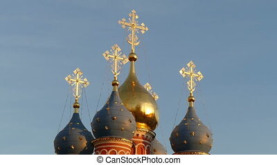 Crosses on Domes of Moscow hd