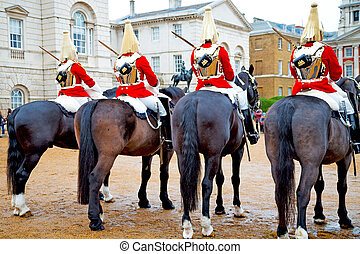for the queen in london england cavalry - in london england...