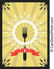 Fork Sun Kitchen Cutlery Card