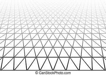 Perspective view Geometric texture - Triangles, diamonds and...